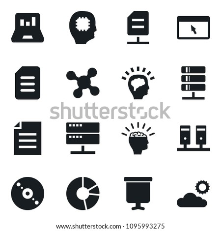 set simple vector isolated icons presentation stock vector royalty
