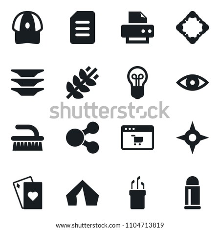 Set Simple Vector Isolated Icons Fetlock Stock Vector Royalty Free