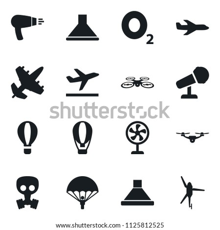 Set Simple Vector Isolated Icons Plane Stock Vector Royalty Free