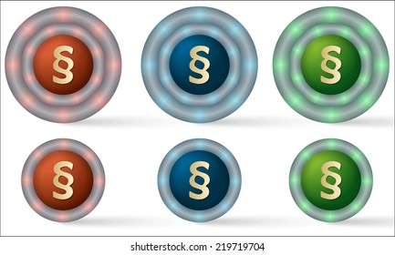 set of six icons with paragraph