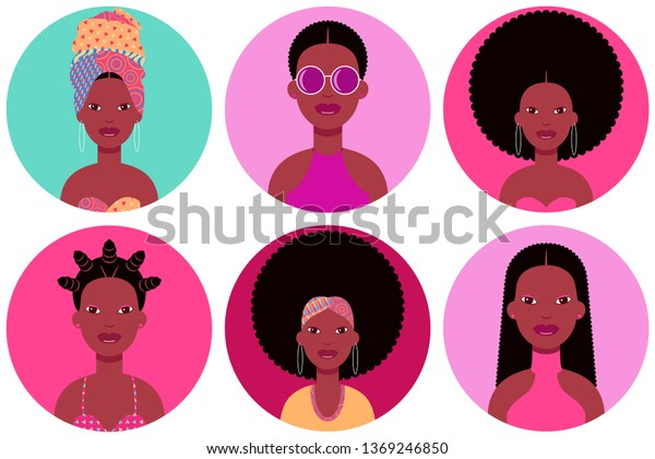 Set Six Young Black Women Round Stock Vector Royalty Free 1369246850,Mixed Bag Designs Promo Code
