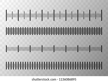 Set of size indicators with different unit distances. Abstract graphic element. Vector illustration