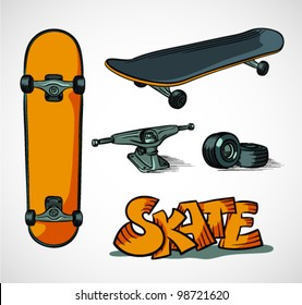 Set of skatebording