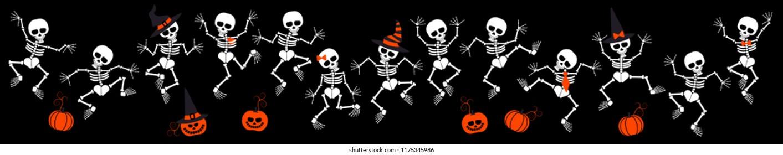 set of skeletons for halloween
