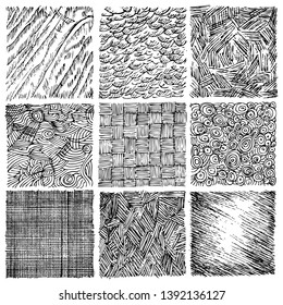 set of sketch textures - Vector