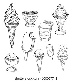Ice Cream Sketch Images Stock Photos Vectors Shutterstock