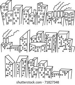 set of sketchy building