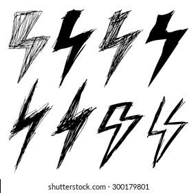 set of sketchy lightning