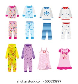 Set sleepwear for boys and girls - pajamas, nightgowns, sleep suits