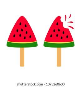 Set of slice watermelon. Vector illustration