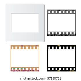 Set of slide mount, slide frame, negative frame, for various design usage.