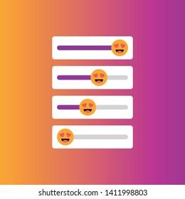 Set of slider smile for social media. Vector illustration