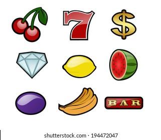 Set of slot machine Icons