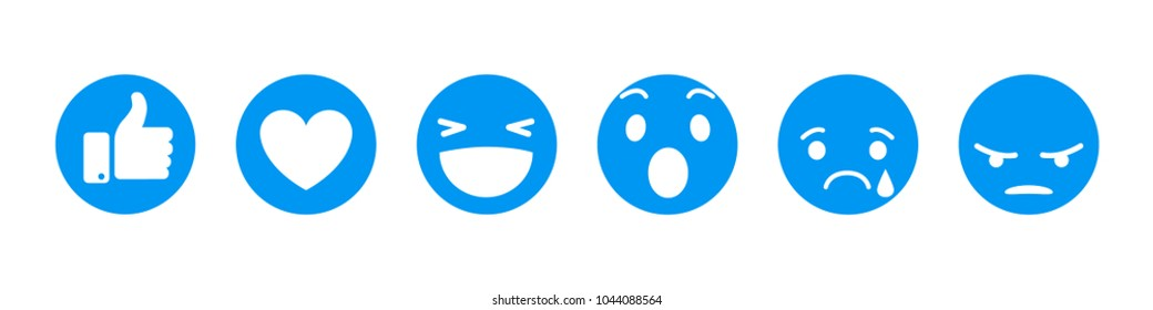 Set of  smiley emoticons, emoji flat design, vector illustration.