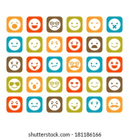 Set of smiley icons