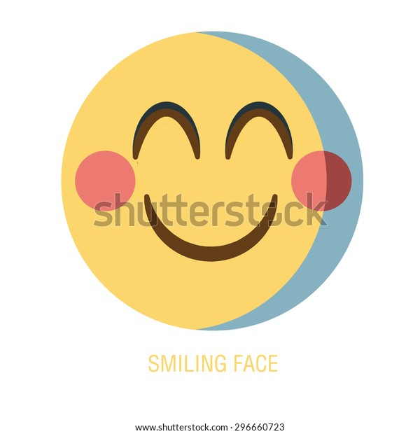 Set of smiley icons: different emotions. emoticon on a white background, a Vector Cute Cartoon smiling faces. emoji face.
