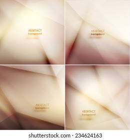 Set of smooth asbtract geometric backgrounds  - eps10 vector