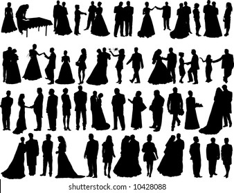 wedding silhouette images stock photos vectors shutterstock rh shutterstock com Airbrushing Silhouette Clip Art Silhouettes of People