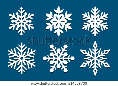 Set Snowflakes Laser Cut Pattern Christmas Stock Vector Royalty Awesome Snowflake Cutting Patterns