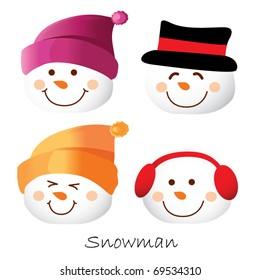 Set of snowman