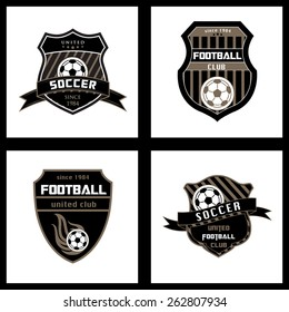 Set of Soccer Football Badge Logo Emblem Design Templates