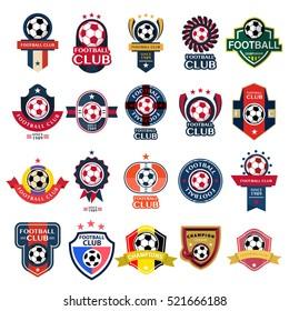 Set Soccer Football Badge and logo emblem designs,vector illustration