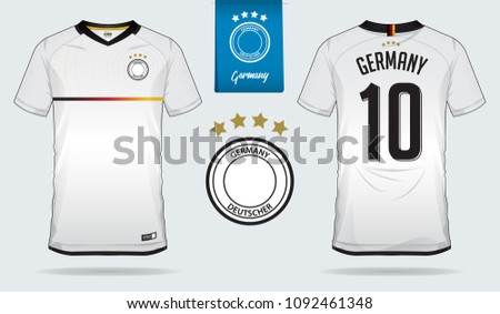 a82253903 Set of soccer jersey or football kit template design for Germany national football  team. Front