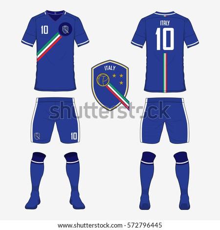 set soccer jersey football kit template のベクター画像素材