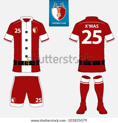 set soccer kit football jersey template のベクター画像素材