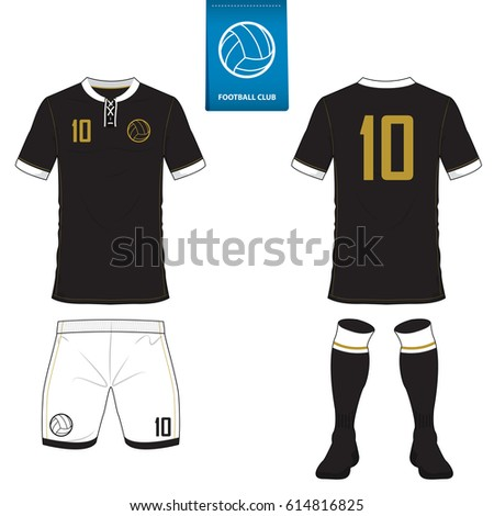 Set of soccer kit or football jersey template for football club. Flat  football logo on 3c38da727