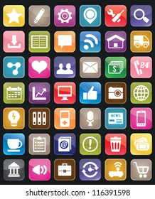 Set of social media buttons for design - vector icons