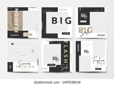 Set of social media post template for special offer