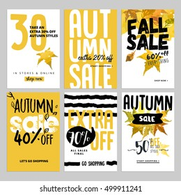 set social media sale banners ads stock vector royalty free