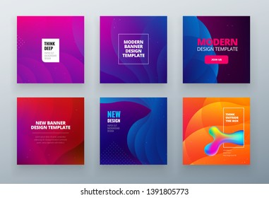 Set of social sale banner background template. Use for summer sale, website, mobile app, poster, flyer, coupon, gift card, smartphone template, web design.