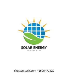 Set of solar energy logo template vector icon illustration design