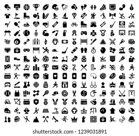 Set of solid sport icons
