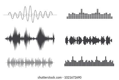 set sound waves icon