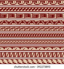 Set of Southwestern Tribal Border Pattern Designs