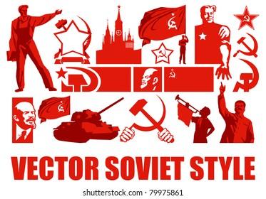 Set of the Soviet Style