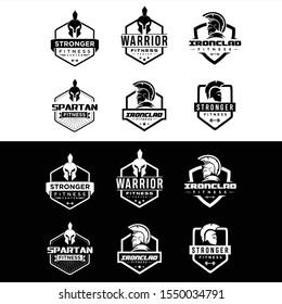 Set Of Spartan Fitness And Gym Logo Vector  . Fitness Logo . Bodybuilding Logo design inspiration