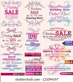 Set of special sale offer labels and banners