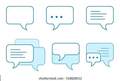 Set of speech bubbles icons