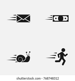 Set of speed  vector icons.