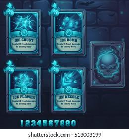 Set spell cards of ice school
