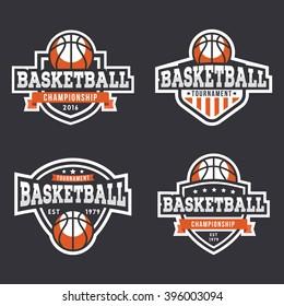 Set of Sport Basketball Logo. American style.