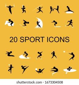 set of sport icons vector illustration.