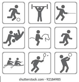 Set of sport icons. Vector illustration