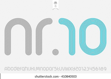 set of sport style alphabet letters and numbers isolated on white background. vector, dynamic stylized font type design. running track concept typesetting. athletic sports competition typeface