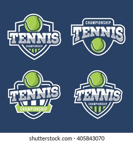 Set of Sport Tennis Logo. American style.