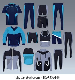 Set of sport wear collection